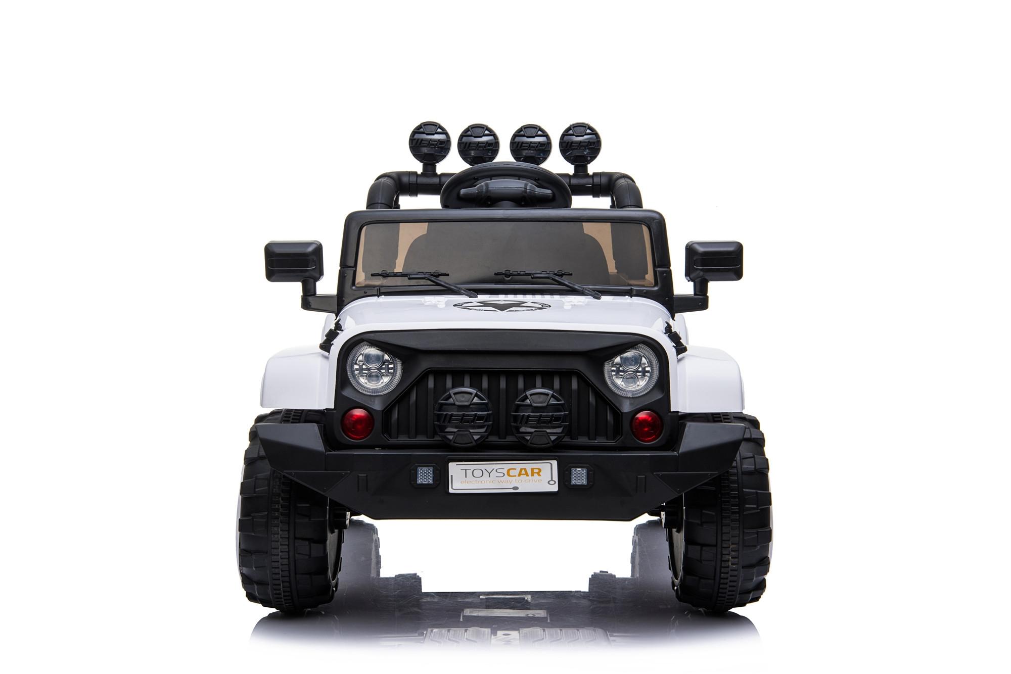 ec8a23d7ba Auto Macchina Elettrica per Bambini Jeep Bianca 12V MP3 Led con Telecomando  Full 7 7 di 12 ...