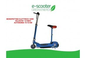 Monopattino Elettrico 24 V 120w E-scooter Bicicletta Elettrica Full Optional Blue
