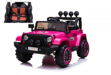 Auto Macchina Elettrica Per Bambini Fuoristrada Adventure Rosa 12v Mp3 Led Con Telecomando Full Optional Sedili In Pelle