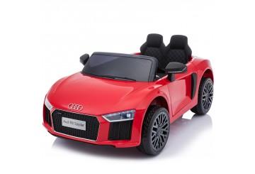 Auto Macchina Elettrica 12v Licenza Audi R8 Spyder Per Bambini Led Mp3 Con Telecomando Sedile In Pelle Rossa