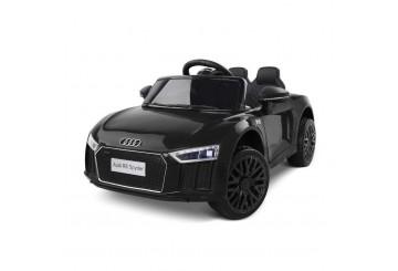 Auto Macchina Elettrica 12v Licenza Audi R8 Spyder Per Bambini Led Mp3 Con Telecomando Sedile In Pelle Nera