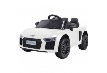 Auto Macchina Elettrica 12v R8 Spyder Per Bambini Led Mp3 Con Telecomando Sedile In Pelle