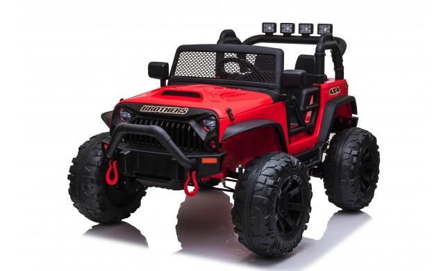 Auto Macchina Elettrica Fuoristrada Big Adventure 24V Rossa per Bambini 2 Posti Full Optional sedile in pelle telecomando porte apribili