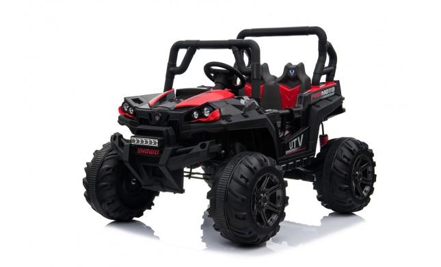 Auto Macchina Elettrica Jeep Fuoristrada Racing 2 Posti 12V per Bambini porte apribili Con telecomando (Rossa)