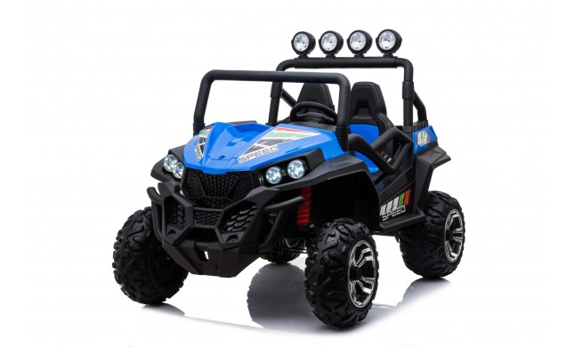 Auto Macchina Elettrica jeep New Polar 24V per Bambini 2 Posti Full Optional Sedile Regolabile E telecomando (Blue)