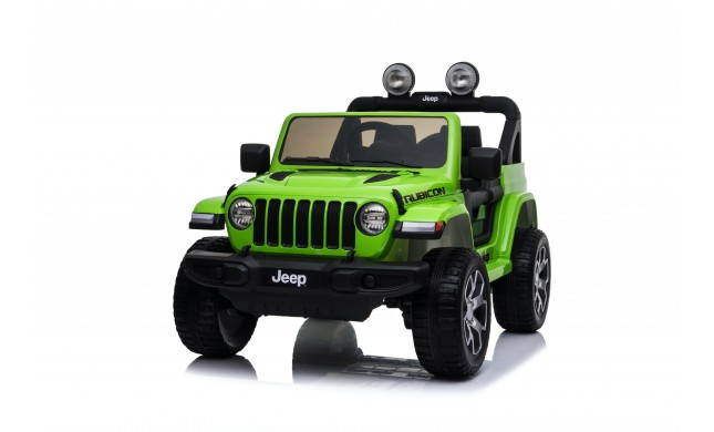 Auto Macchina Elettrica Jeep Wrangler Rubicon 12V per Bambini porte apribili Con telecomando Full accessori (Green)
