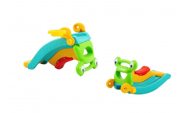 Scivolo per Bambini Cavallo a Dondolo Multifunzione in 1 H50 x L83 x L48