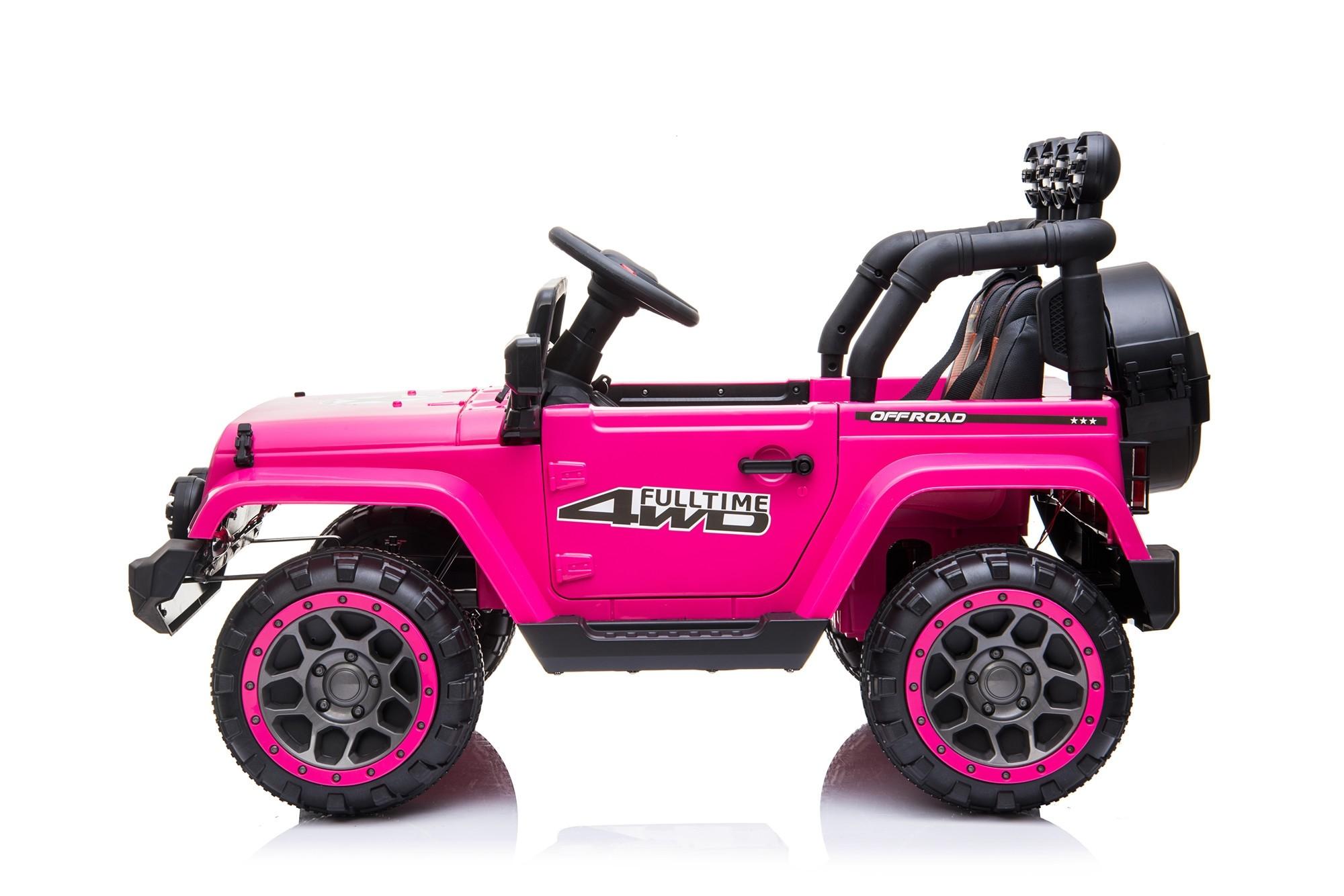 Auto elettrica 2 posti per bambini 12V con telecomando Macchina fuoristrada rosa