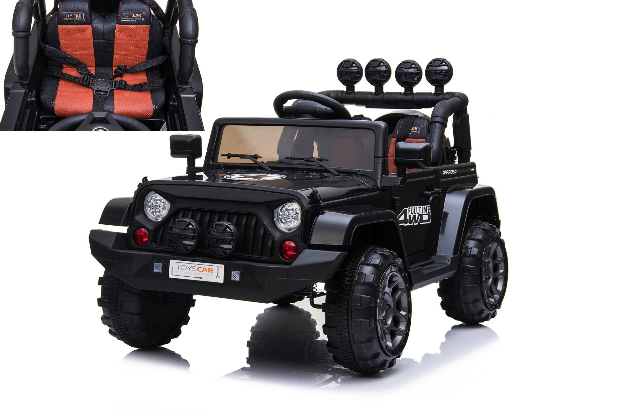 Auto elettrica per bambini jeep 12V con telecomando fuoristrada SUV quad MP3
