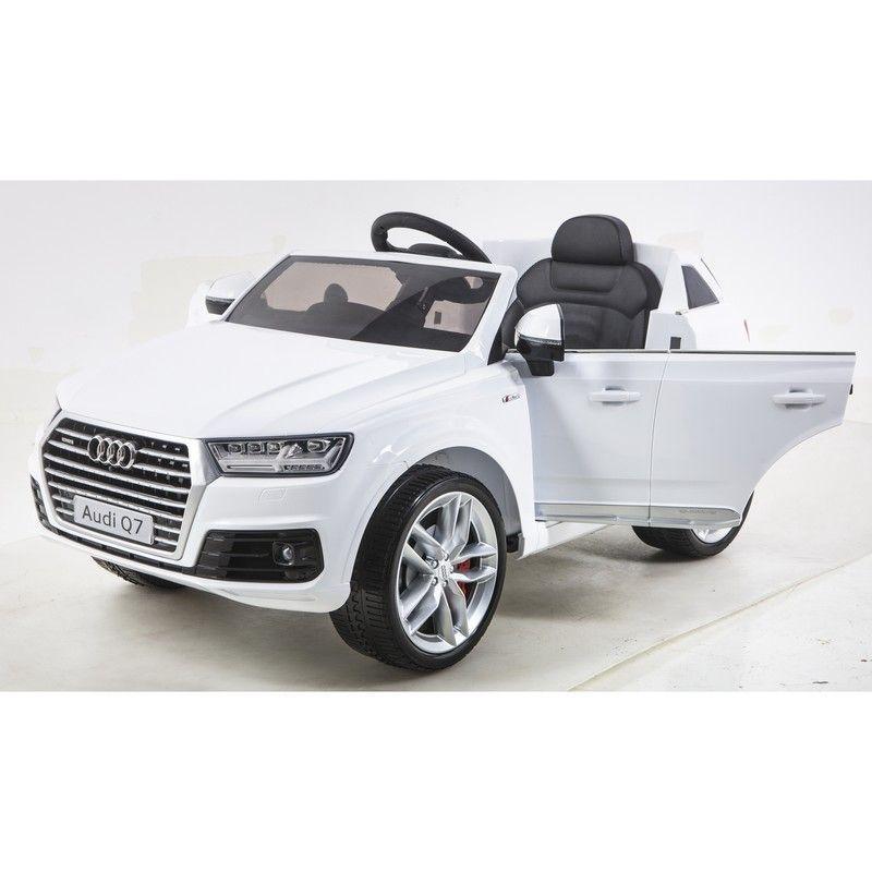 Auto Macchina Elettrica per Bambini AUDI Q7 12V Bianco 1 Posto Con Telecomando